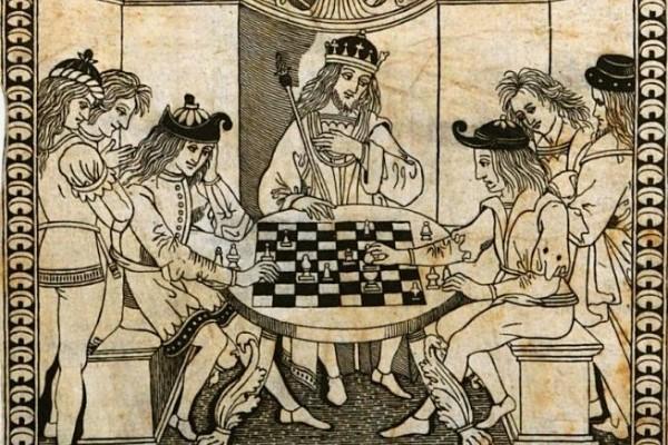 antiguo juego de ajedrez